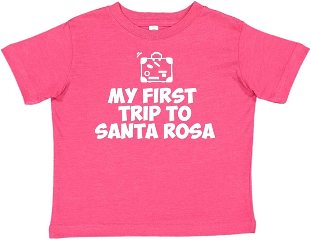 Toddler//Kids Short Sleeve T-Shirt Mashed Clothing My First Trip to Santa Rosa