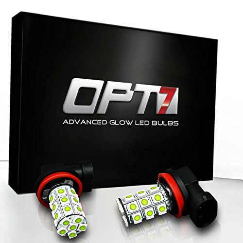 OPT7 H11 Advanced Glow 27-SMD LED Fog Light Bulbs - 6000K Cool White - Plug-n-Play (Pack of 2) (2009 Malibu Fog Lights compare prices)