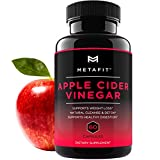 Apple Cider Vinegar Pills For Weight Loss - 60 ACV Capsules for Natural Detox Cleanse Diet - 1250mg Daily - Belly Fat Burner Supplement for Women & Men by METAFIT