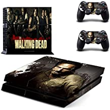 Skinia PS4 Console Designer Skin for Sony PlayStation 4 System plus Two(2) Decals for: PS4 Dualshock Controller - ps4 skin cover the walking dead twd