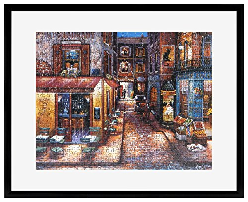 24 X 30 Black Wood - MCS Frame for Puzzle Sizes 24 Inch by 30 Inch and Smaller, Black Finish, 24