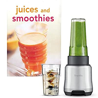 Breville The Boss To Go Personal Blender with 16 and 32 Ounce Tumblers and Bonus Tuttle Juices and Smoothies Cookbook