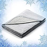 Revolutionary Cooling Blanket Absorbs Body Heat to Keep Adults, Children, Babies Cool on Warm Nights, Japanese Q-Max 0.4...