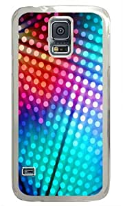 Colored Dots Background Custom Samsung Galaxy S5 Case and Cover - Polycarbonate - Transparent