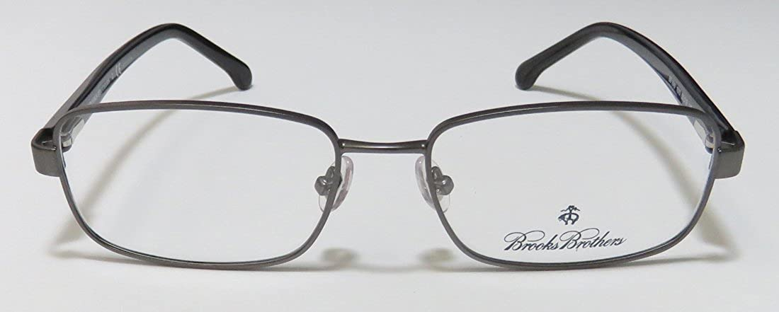 651000a21077 Eyeglasses Brooks Brothers BB 1045 1670 DK GUNMETAL/BLACK at Amazon Men's  Clothing store: