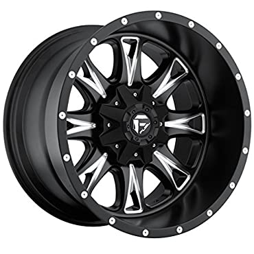 Fuel Throttle 20x12 Black Wheel / Rim 5x4.5 & 5x5 with a -44mm Offset and a 72.60 Hub Bore (D51320202647)