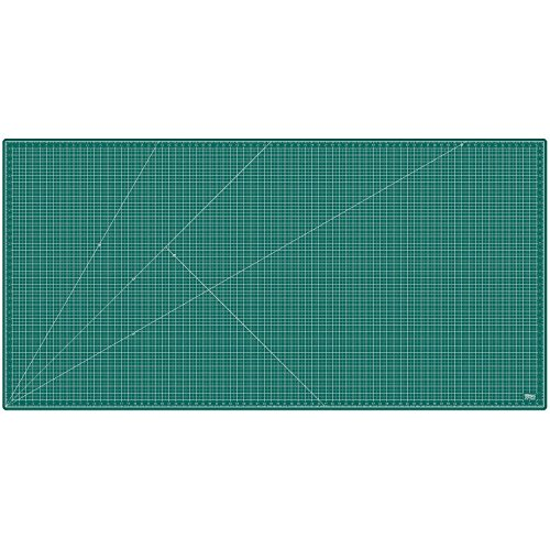US Art Supply 40'' x 80'' GREEN/BLACK Professional Self Healing 5-Ply Double Sided Durable Non-Slip PVC Cutting Mat Great for Scrapbooking, Quilting, Sewing and all Arts & Crafts Projects (Choose Green/Black or Pink/Blue Below) by US Art Supply