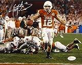 #6: Colt McCoy Autographed Texas Longhorns 8x10 Against Ohio State Photo- JSA W Auth
