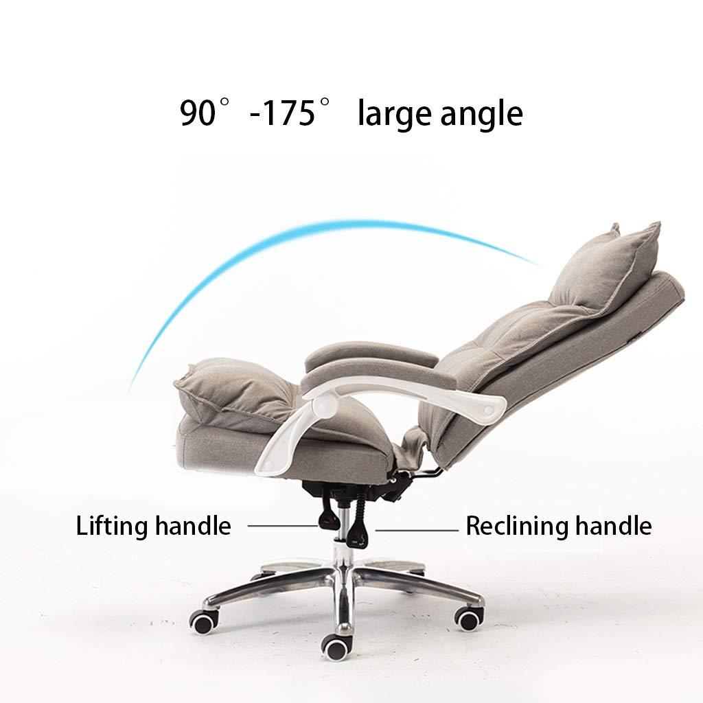 ZHAN YI SHOP kontorsstol, tyg vilande chef stol, lyft och 360° rotation svängbar stol, spelstol mjuk och bekväm, datorstol för hem och kontor (färg: Rosa) Rosa