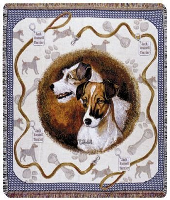 Simply Home Jack Russell Dog Tapestry Throw By Artist Pat Lehmkuhl 50