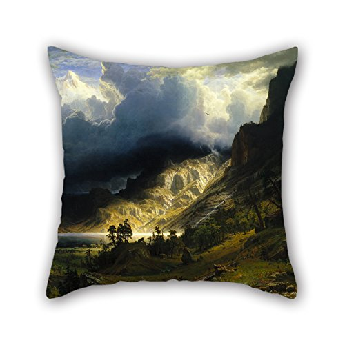 Uloveme Cushion Cases Of Oil Painting Albert Bierstadt - A Storm In The Rocky Mountains, Mt. Rosalie,for Wedding,play Room,him,husband,home,teens Boys 20 X 20 Inches / 50 By 50 Cm(2 (Toddlers Rosalie The Robot Costume)