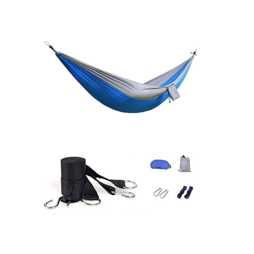 A Hdcwz Parachute Cloth Indoor Student Dorm Room Hammock Bedroom Swing Tourism Mountaineering Camping Picnic Thin and Light Hammock Outdoor Double Hammock