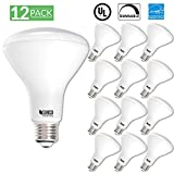 Sunco Lighting 12 Pack BR30 LED Light Bulb 11 Watt (65 Equivalent) Flood Dimmable 2700K Kelvin Soft White 850 Lumens Indoor/Outdoor 25000 Hrs For Use In Home, Office And More UL & ENERGY STAR LISTED
