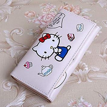 Amazon.com  Hadaboo Cute Cartoon Hello Kitty Wallet Cat Bag Women ... d8ea688fed