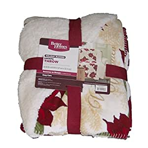 better homes and gardens throw blanket better homes gardens sherpa fleece christmas
