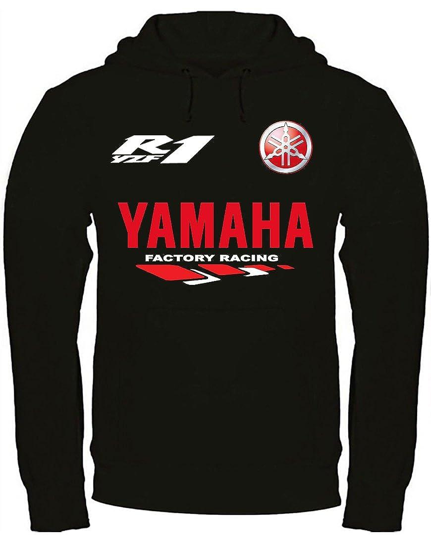 Print & Design Felpa con Cappuccio Yamaha YZF R1