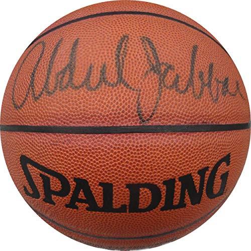 Kareem Abdul Jabbar Hand Signed Auto Spalding Basketball LA Lakers JSA AA84466