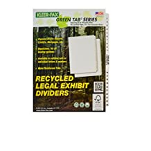 Kleer-Fax Legal-Size Index Dividers, Collated Numbered Sets, Side Tab, 1/25th Cut, 1 Set Per Pack, White, 1-25 Plus Table of Contents (81471)