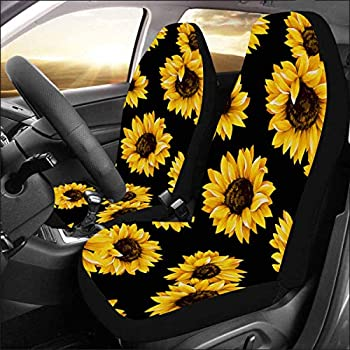 Amazon Com Artsadd Sunflower Daisy Fabric Car Seat Covers