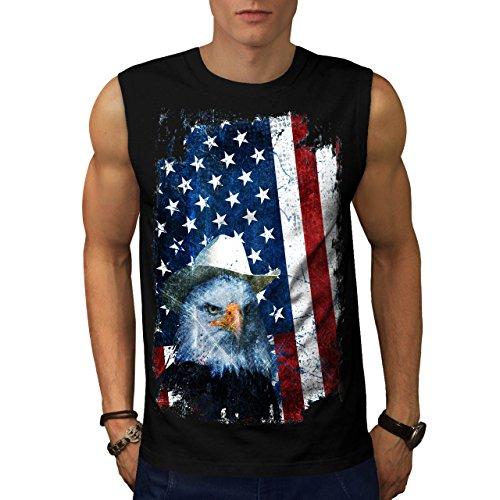 Usa National Symbol Eagle Flag Men New S Sleeveless T Shirt   Wellcoda