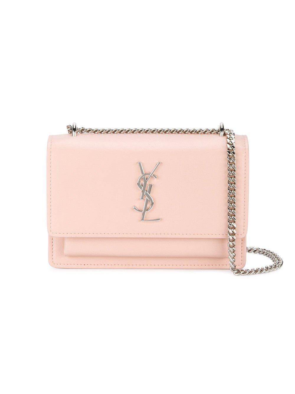 Saint Laurent Women's 452157D422n6920 Pink Leather Shoulder Bag