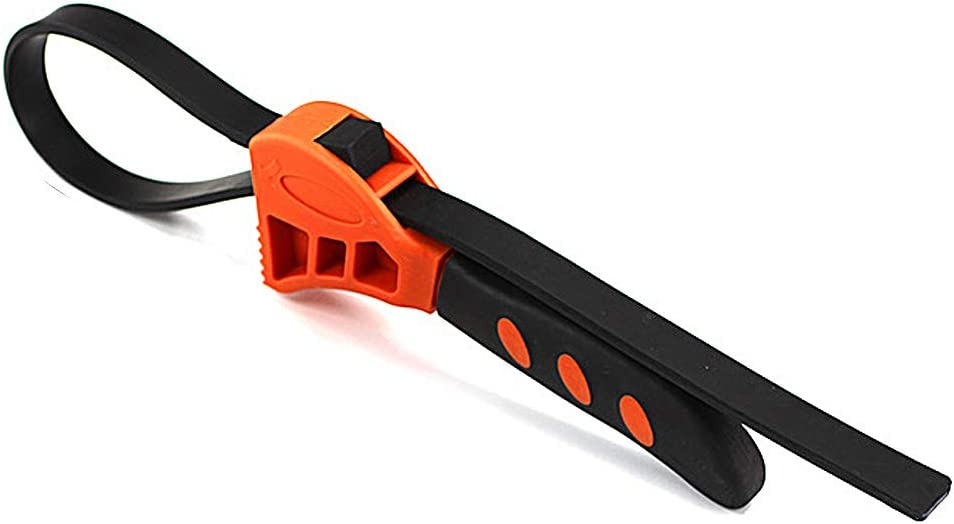 Details about  /New Adjustable Bottle Opener Rubber Strap Wrench Oil Filter Spanner Repair Tools