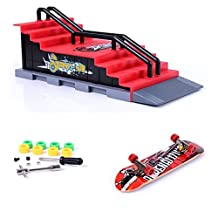 ZYAQ Mini Skate Park Ramp Parts for Tech Deck Fingerboard Finger Skateboard Ultimate Parks Ramp #F