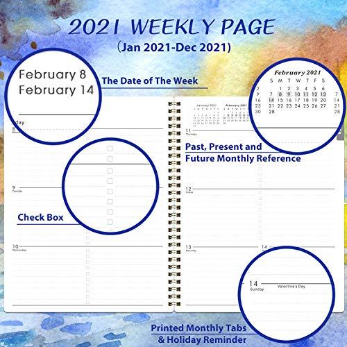 "2021 Planner Weekly /& Monthly 2021 Planner 8/""x10/"" Jan Dec 2021 Cactus Floral"