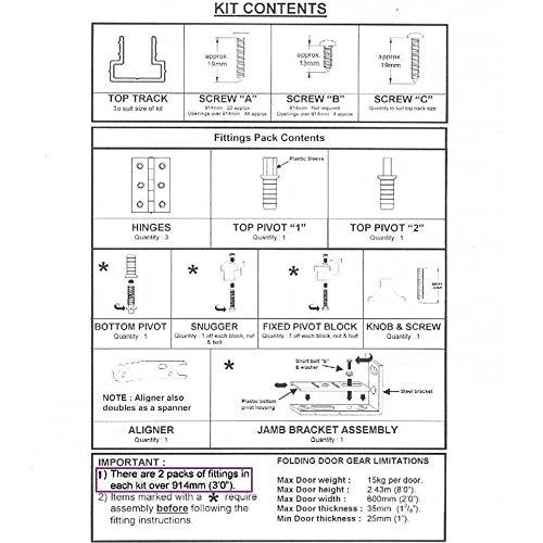 SLIK 08SL00601524 1524 mm Folding Door Gear Track - Aluminium - Buy ...