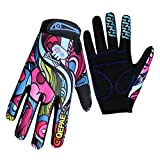 Eizur Unisex Breathable Cycling Gloves Anti-slip Gel Pad Full Finger Sports Gloves for Bicycle Riding Motorcycle Skiing Gorgeous Color