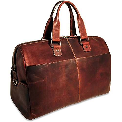 Jack Georges Voyager Collection Leather Cabin Bag in Brown by Jack Georges