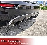 JC SPORTLINE Carbon Fiber Rear Diffuser Fits for
