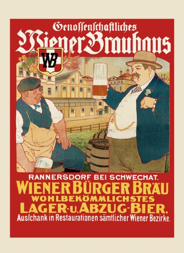 "Man Talking Having Beer Lager Abzug Bier Germany German 12"" X 16"" Image Size Vintage Poster Reproduction , We have other sizes available !"