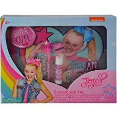 JoJo Siwa Scrapbook Set in Box Included Scrapbbok, 4 Pattern Sheets, 404 Stickers, 116 Cut Outs......
