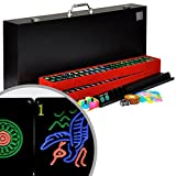 ": Full American / Western Mahjong / Mah Jongg Set with Black Tiles ""Jet Set"""