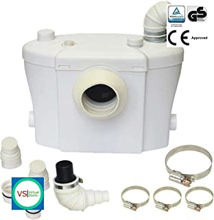 Pre1 prem i air elite pw1600 high powered 135 bar pressure washer sanitary macerator pump plumbers choice 400 watt 3 in 1 toilet shower sink waste water publicscrutiny Images