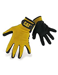 Caterpillar 17416 Nitrile Coated Nylon Shell Gloves / Mens Gloves / Gloves (Large) (Black)