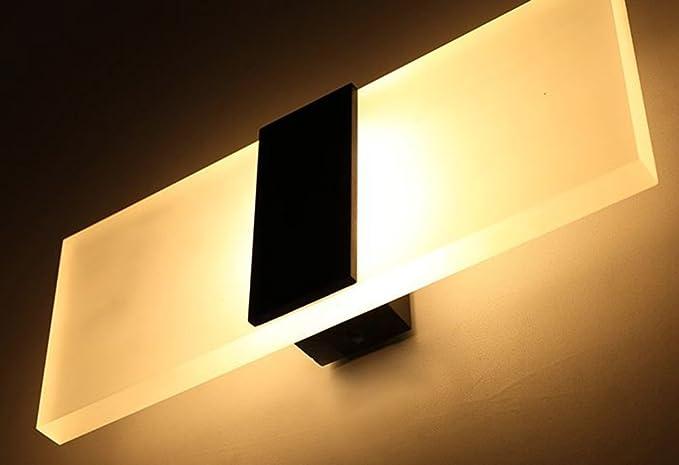 Modern Led Wall Lighting Up Down Cube Indoor Outdoor Bedroom Sconce Lamp Fixture 2 Black