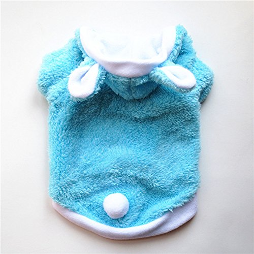 Brinty Warm Cute Cat Clothes Easter Rabbit Animals Suit Clothing Windproof Pet Product Cute Bunny Cotton Suit for Cat Winter Shipping ()
