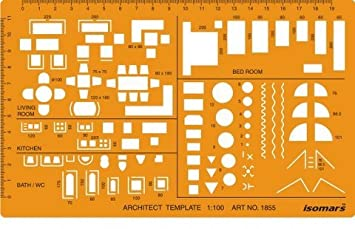 Isomars Metric Scale Architectural Drawing Template Stencil