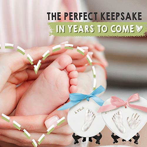 Baby Handprint Footprint Ornament Keepsake Kit – Newborn Imprint Ornament Kit for Baby Girl, Boy – Personalized New Baby…