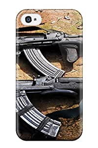 AnnaSanders Fashion Protective Ak 47 Military Assault Rifle Man Made Military Case Cover For Iphone 4/4s