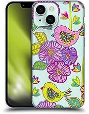 Head Case Designs Officieel Gelicentieerd Julia Grifol Kleurrijke Vogels Bloemen Soft Gel Case compatibel met Apple iPhone 13 Mini