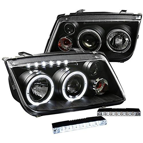 Jetta Black Projector Headlights Driving