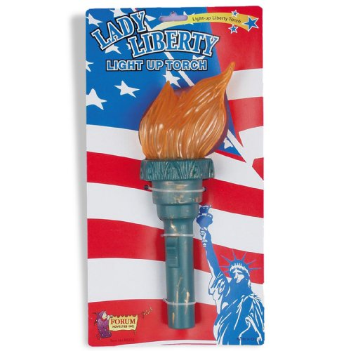 Lets Party By Forum Novelties Inc Light Up Liberty Torch / Green - Size One - -