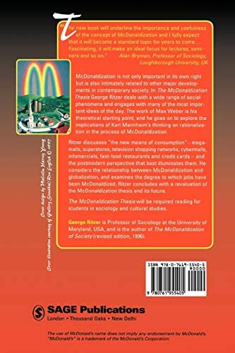 Review the mcdonaldization thesis 0761955402 ap lit sample essays