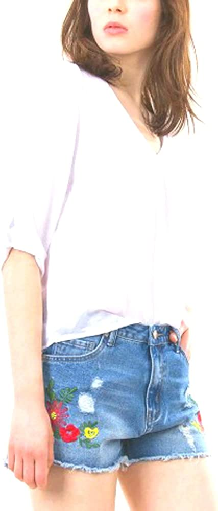 Tiffosi Blusa Mujer Carey 1 Escote Pico Manga Larga con Trabillas Estilo Seda Crudo (M): Amazon.es: Ropa y accesorios