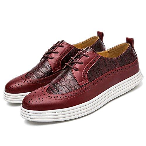 Xianshu Lace up mocassini Round Toe casual scarpe piatte Rosso
