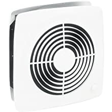 Broan-Nutone 510 Room-to-Room Ventilation Fan, Plastic White Square Exhaust Fan, 6.5 Sones, 380 CFM, 10""