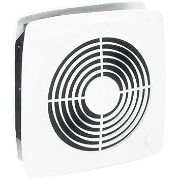 Broan-Nutone510Room-to-Room Ventilation Fan, Plastic White Square Exhaust Fan, 6.5 Sones, 380 CFM, 10
